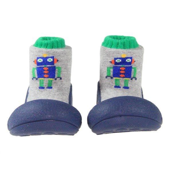 韓國 Attipas 快樂腳襪型學步鞋-工程機器人