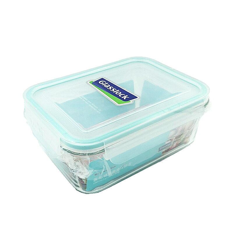 Glasslock 長形強化玻璃微波保鮮盒1100ml【康鄰超市】