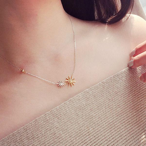 PS Mall 韓版太陽的後裔宋慧喬海報款 撞色花朵大小星星雪花項鍊/手鏈鍊【G1963】