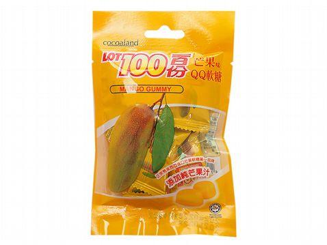 馬來西亞 LOT 100 ~一百份芒果味QQ軟糖(49g)【小三美日】◢D061898