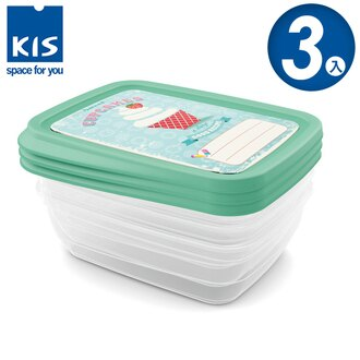 E&J【012017-01】義大利 KIS 杯子蛋糕系列食物保鮮盒組 3x1L 3入;便當盒/飯盒/收納盒/餅乾盒