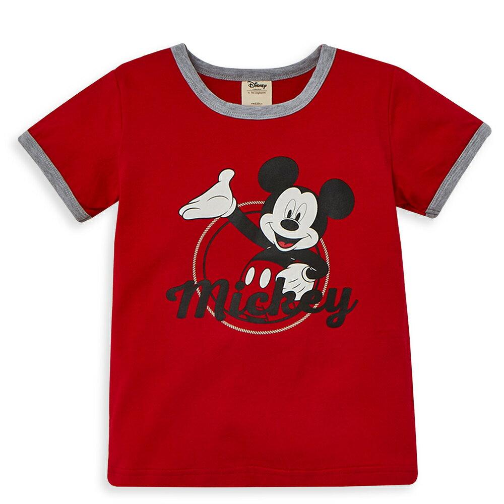 Disney 米奇系列歡樂圈圈上衣-紅色