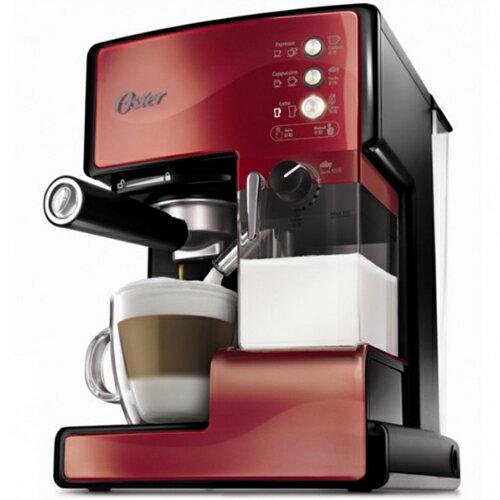 【買就送磨豆機+咖啡豆】OSTER 美國 第二代奶泡大師 義式咖啡機 BVSTEM6602R 紅 PRO升級版