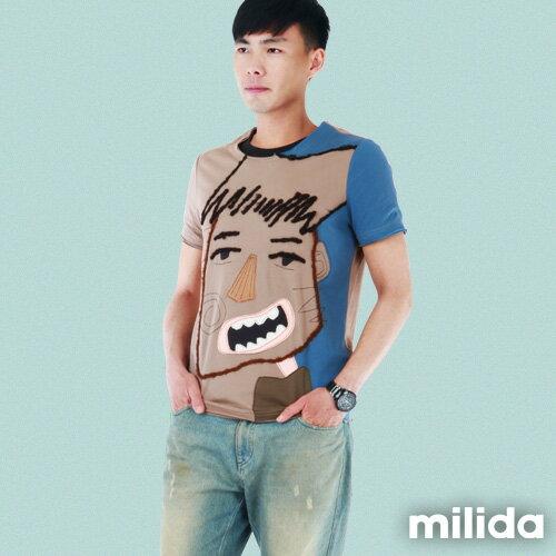 【Milida,全店七折免運】男生款-獨家設計情侶款T恤 0