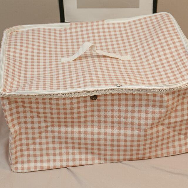 粉蘇格蘭衣物收納 50cmx45cmx25cm 可收納雜物 小物 0