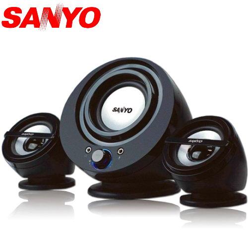 【迪特軍3C】三洋 聲之藝2.1聲道喇叭 SYSP-832 高雅流線外型 耳機+麥克風插孔 1000W