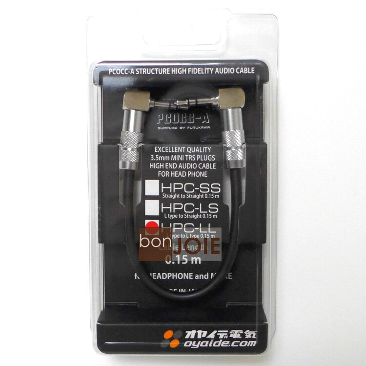 ::bonJOIE:: 日本進口 日本製 Oyaide HPC-LL 15cm 音源線 3.5公L頭-3.5公L頭 耳擴可用 0.15 m 雙頭 訊號線 耳機線 小柳出電氣商會