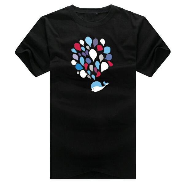 T恤 情侶裝 客製化 MIT台灣製純棉短T 班服◆快速出貨◆獨家配對情侶裝.小鯨魚大噴水【YC216】可單買.艾咪E舖 1