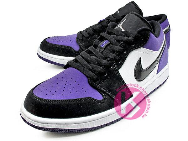 2019 經典重現 復刻鞋款 NIKE AIR JORDAN 1 LOW COURT PURPLE 低筒 白黑紫 黑紫腳趾 AJ (553558-125) ! 1