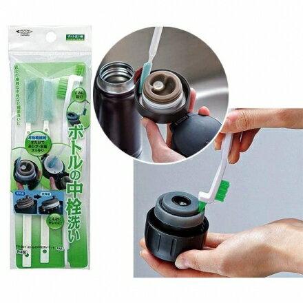 【日本MAMEITA】保溫瓶蓋細縫刷/便當溝槽清潔刷(3入)~極細纖維 清潔刷組‧日本製?桃子寶貝?