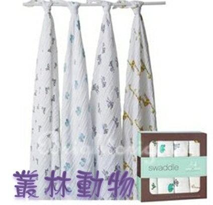 【淘氣寶寶】Aden + Anais全款式 聯名設計雙層細紗布輕柔新生兒包巾(4入裝) FBPPL 7