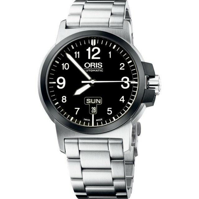 ORIS 豪利時0173576414364-0782203 BC3雙日曆機械腕錶 / 黑面42mm - 限時優惠好康折扣