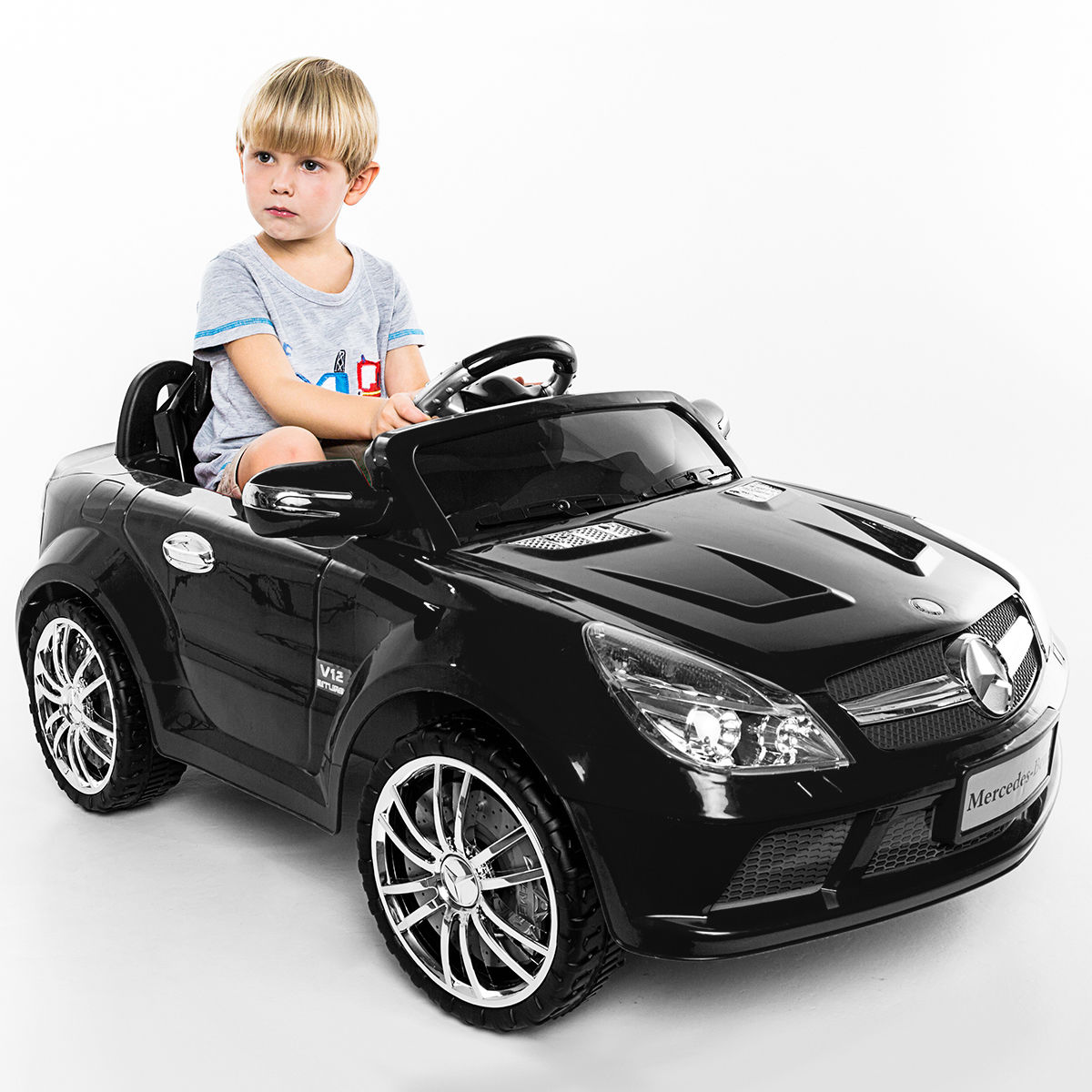 Costway 12v Mercedes Benz Sl65 Electric Kids Ride On Car Remote Controller With Circuit Board Buy Music Rc Control Black