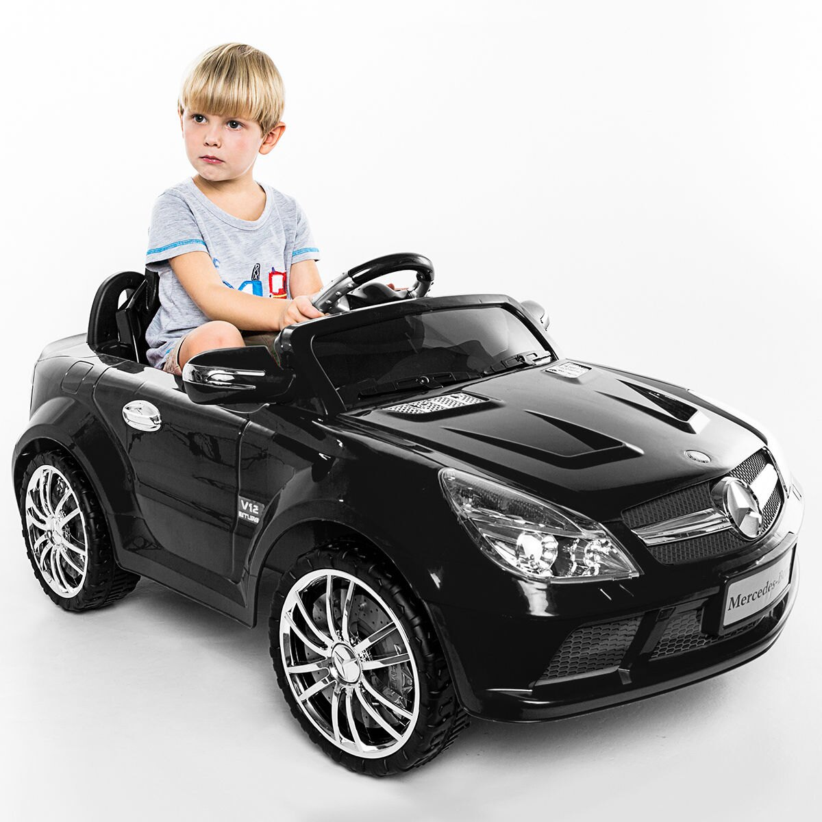Car For Kids >> Costway 12v Mercedes Benz Sl65 Electric Kids Ride On Car Music Rc Remote Control Black