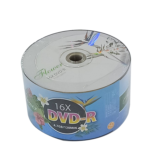 FLOWER DVD-R 16X 50片裝 可燒錄空白光碟