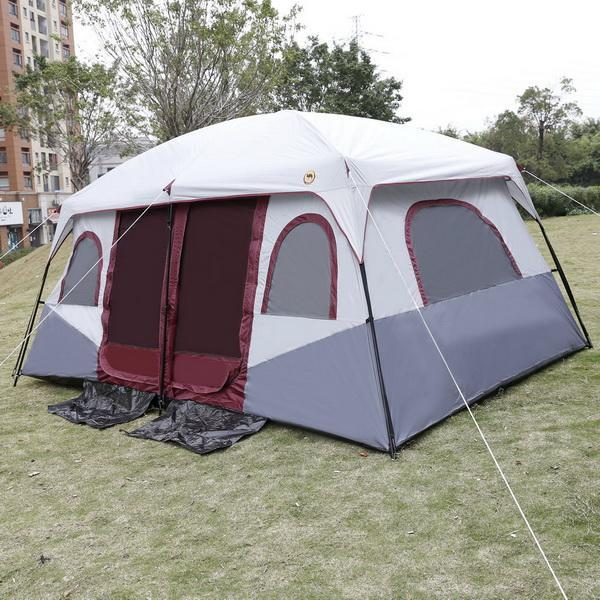 Waterproof 8-10 Person 2-Bedroom Outdoor Camping Hiking Tent Dual Layer 1