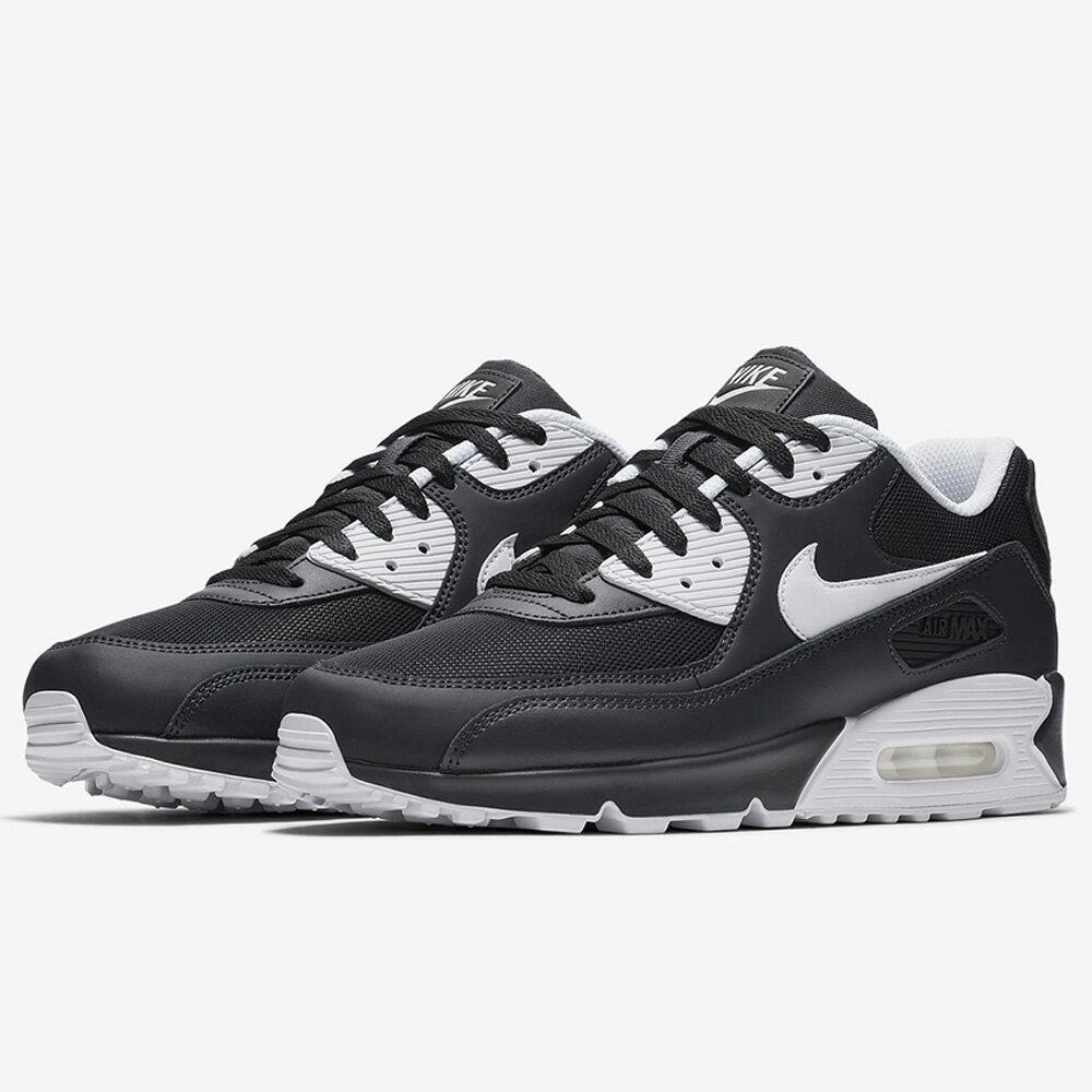 Nike Air Max 90 Essential 男鞋 休閒 氣墊 皮革 黑 白 【運動世界】 537384-089