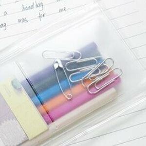 美麗大街【BF556E12E873】SAFEBET透明軟塑料旅行雜物收納封口袋文具筆袋4格