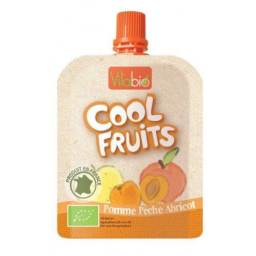 【安琪兒】法國【倍優babybio】VITABIO 有機優鮮果-蘋果、蜜桃、杏桃90g(12個月以上)