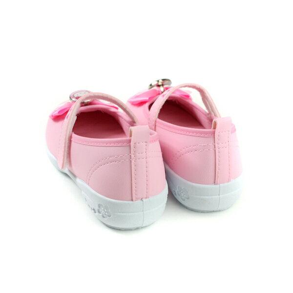 Hello Kitty 凱蒂貓 娃娃鞋 皮質 粉紅色 中童 童鞋 718742 no774 1