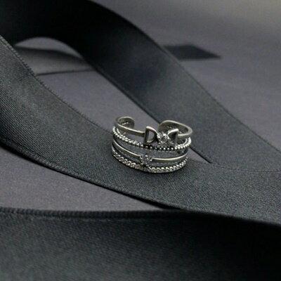 925純銀戒指銀飾-精緻大方典雅流行生日情人節禮物女飾品73ic4【獨家進口】【米蘭精品】