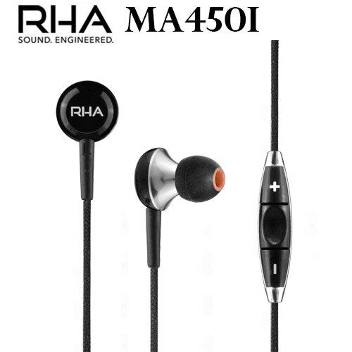 英國 RHA  MA450i 高傳真入耳式線控耳機 公司貨保固三年
