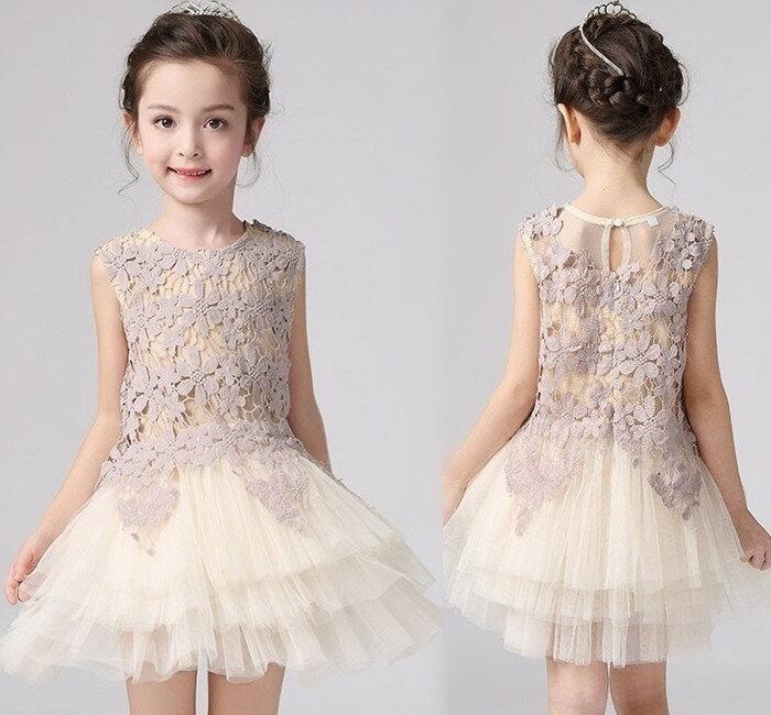 ~貝貝樂SHOW~貴族奢華風甜美鏤空提花蕾絲蛋糕洋裝裙 ~  好康折扣
