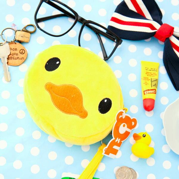 黃色小鴨圓形拉鍊包零錢包黃鴨小鴨RubberDuck吊飾卡夾悠遊卡鑰匙【B060134】