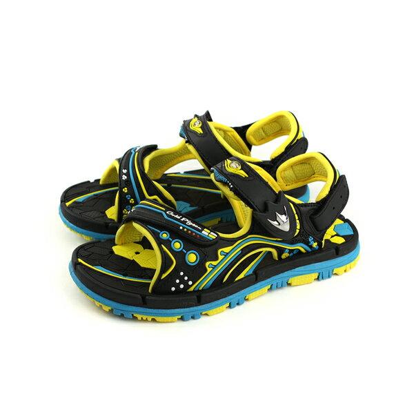GP(Gold.Pigon)涼鞋防水雨天黃黑大童童鞋G8671B-33no935