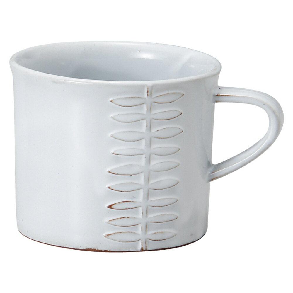 【日本Meister Hand】FLOR 葉印馬克杯 咖啡杯 水杯 280ml 白色 -618年中慶