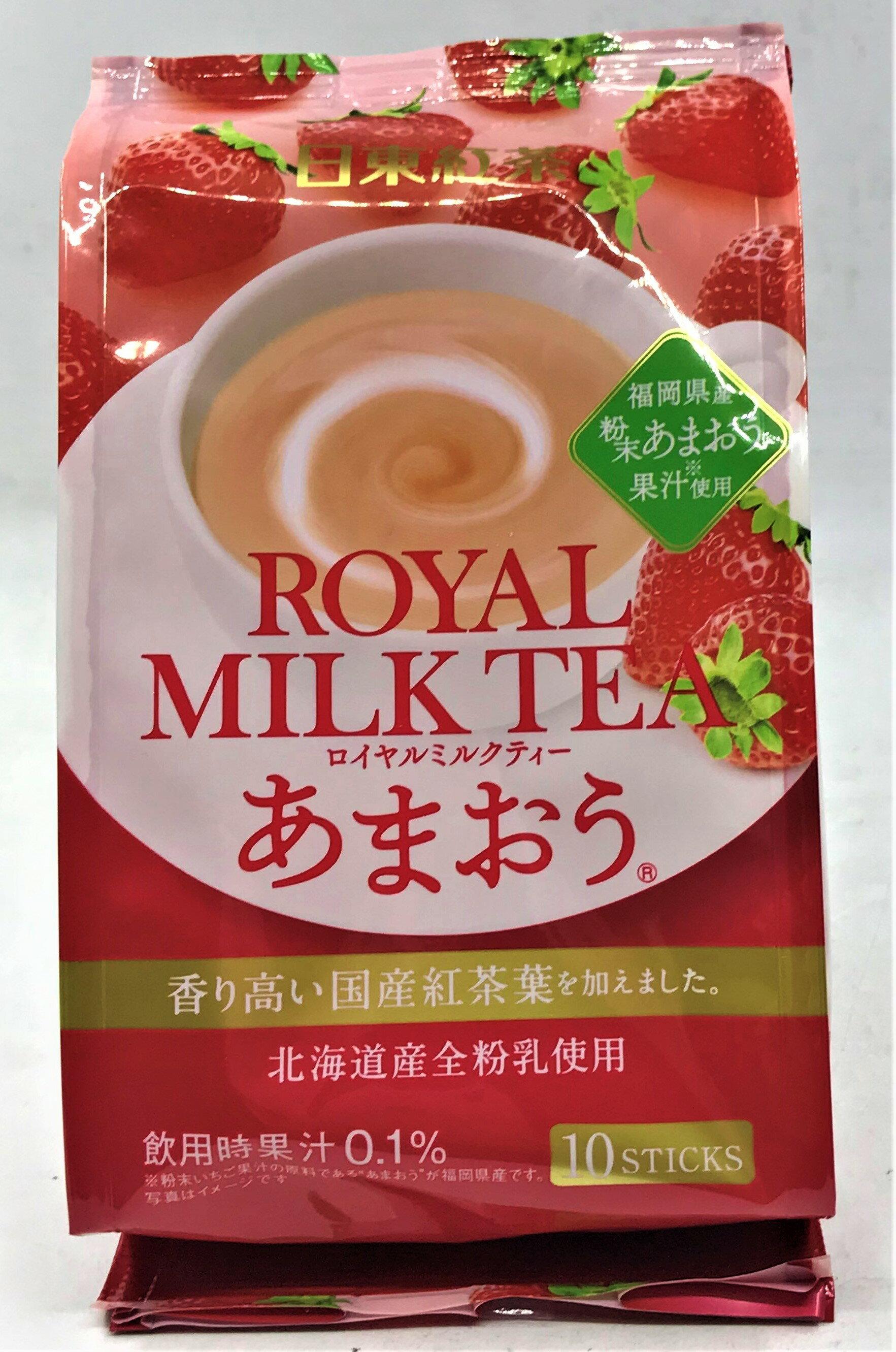 [哈日小丸子]日東皇家奶茶-草莓風味(10袋)