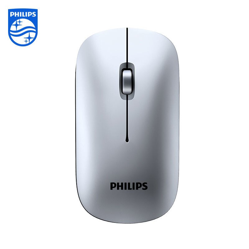 無線滑鼠 飛利浦無線滑鼠可充電式藍牙靜音無聲辦公家用臺式電腦筆記本通用
