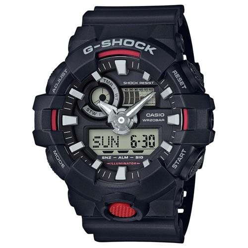 Casio G-Shock Black Digital Analog Watch GA700-1A 0