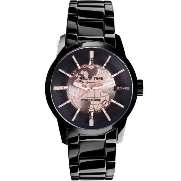 大高雄鐘錶城:RELAXTIME史上最帥人動電能錶款-玫瑰金(RT-62-2)45mm