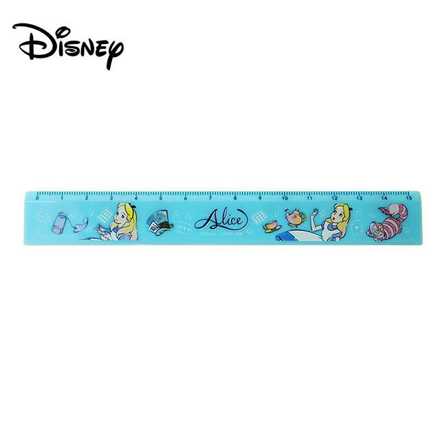 【日本正版】愛麗絲 雙面刻度直尺 15cm 直尺 塑膠尺 愛麗絲夢遊仙境 迪士尼 Disney - 571362