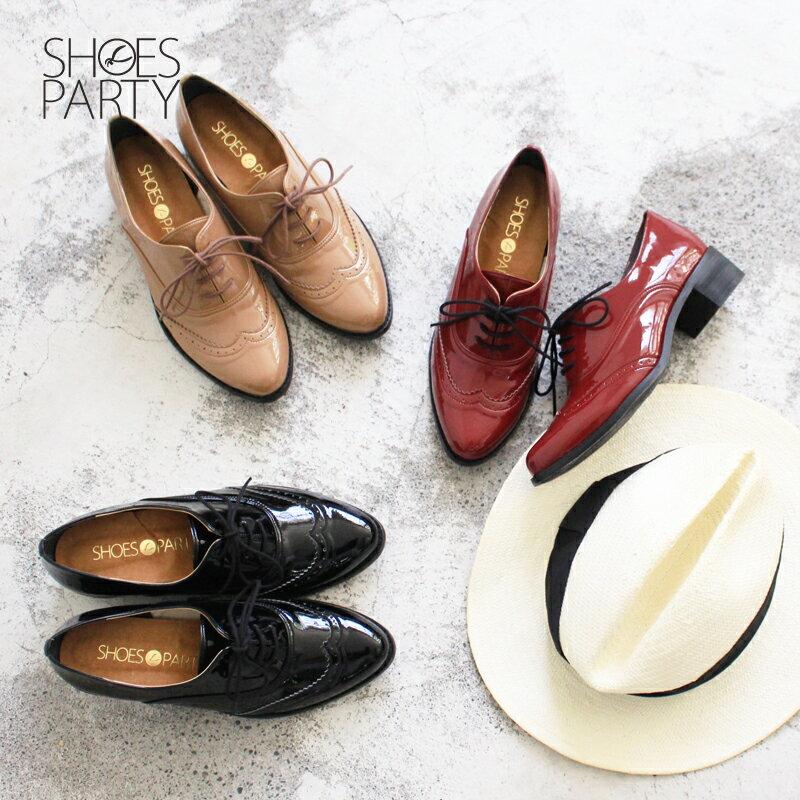 【現貨】【F2-17526P】日本製防水系列-綁帶牛津鞋_Shoes Party 0