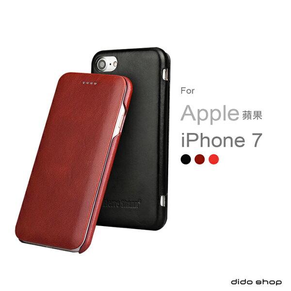 dido shop:新年必購★iPhone78(4.7吋)真皮手機皮套掀蓋式手機殼商務系列(FS017)【預購】