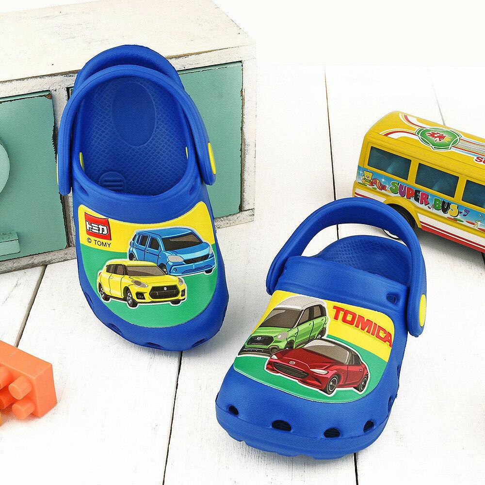 Tomica多美小汽車 不對稱設計花園鞋 中童 TM1825藍【童鞋城堡旗艦店】