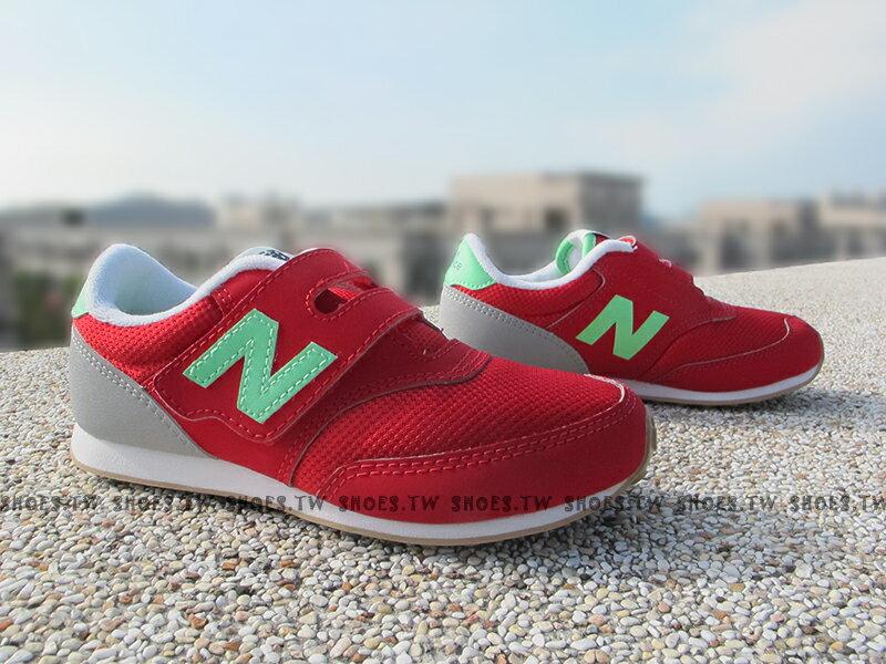 《下殺7折》Shoestw【K620REI】NEW BALANCE 膠底 防滑 童鞋 運動鞋 小童 紅綠