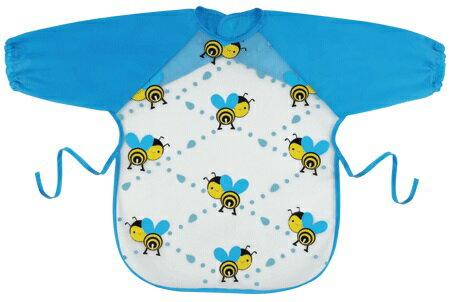 『121婦嬰用品館』拉孚兒 擦可淨用餐圍兜(長袖型) - 蜜蜂滿版 0
