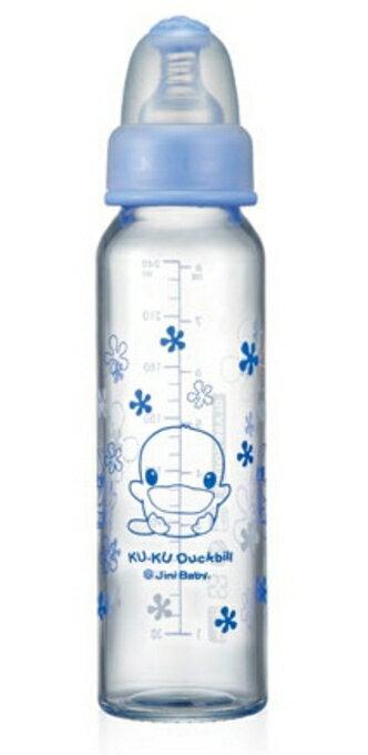 KUKU 酷咕鴨 晶亮加厚玻璃奶瓶-240ml