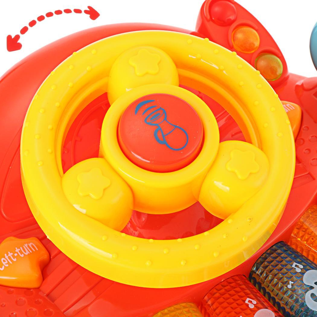 Educational Development Learn and Discover Driver Toy Plastic Steering Wheel Keyboard 3