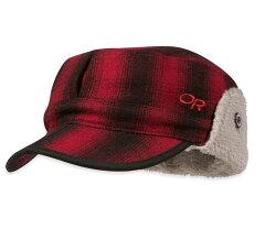 【【蘋果戶外】】Outdoor Research OR243658 1080 紅 Yukon Cap 羊毛混紡透氣保暖護耳帽 保暖帽.狩獵帽.休閒帽.鴨舌帽.紳士帽 86071