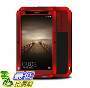 [106美國直購] 手機保護殼 Huawei Mate 9 Case Case Perstar Shockproof Dust Dirt Snow Proof Aluminum Metal Gorilla Glass