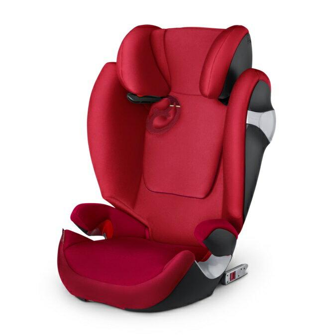 德國【Cybex】Solution M-FIX 汽車安全座椅 (3~12歲) -紅色