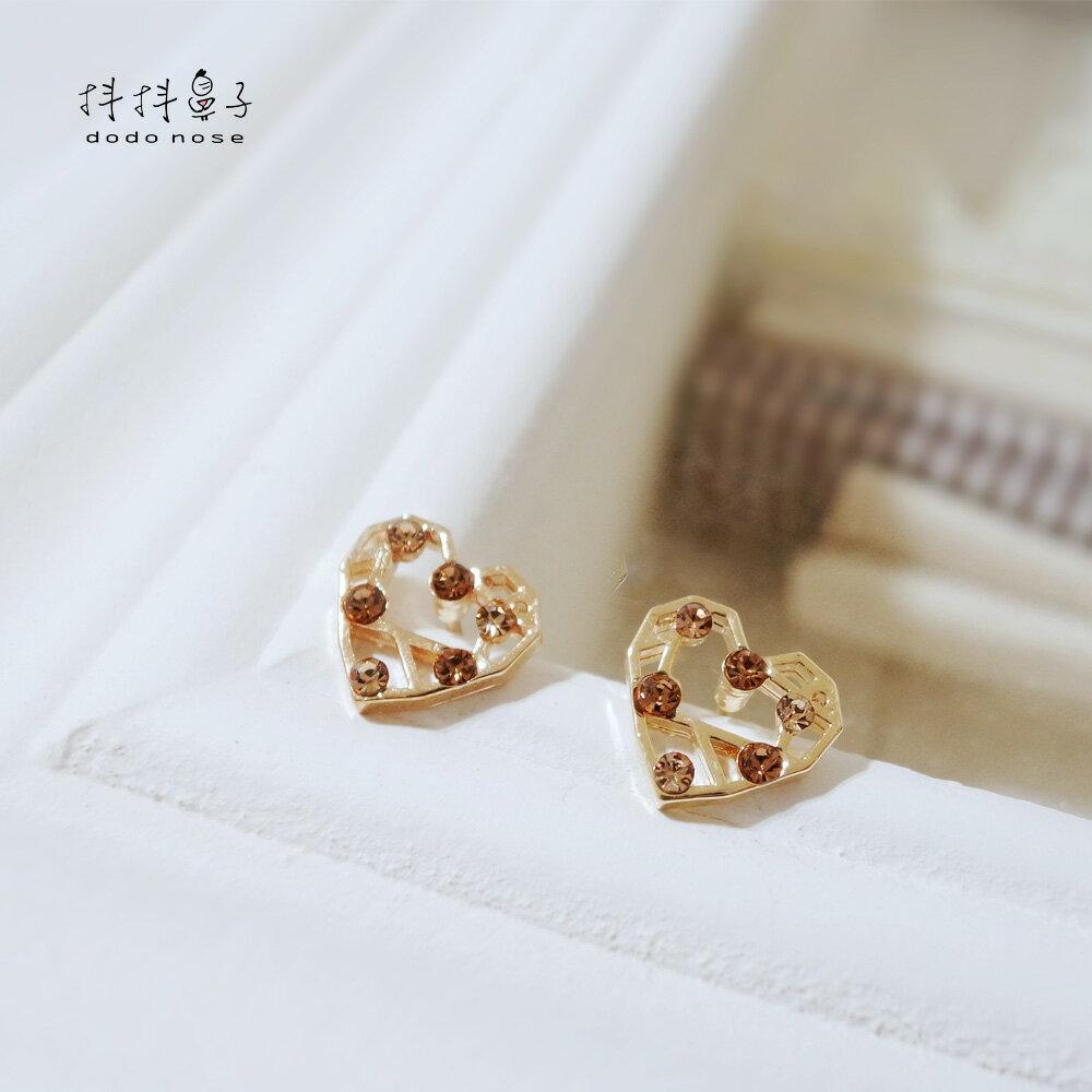 幾何愛心彩鑽耳環 3