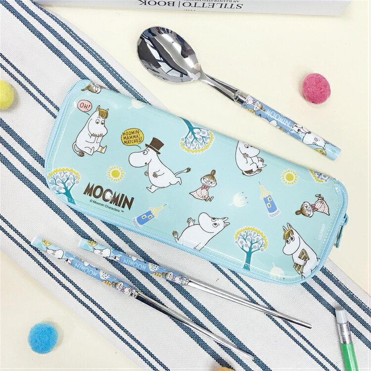 PGS7 其他卡通系列商品 - 韓國 嚕嚕米 Moomins 不銹鋼 餐具組 環保餐具 筷子 湯匙【SEE7507】