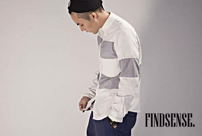 韓國 兩色  大線條 粗線條 襯衫 質感