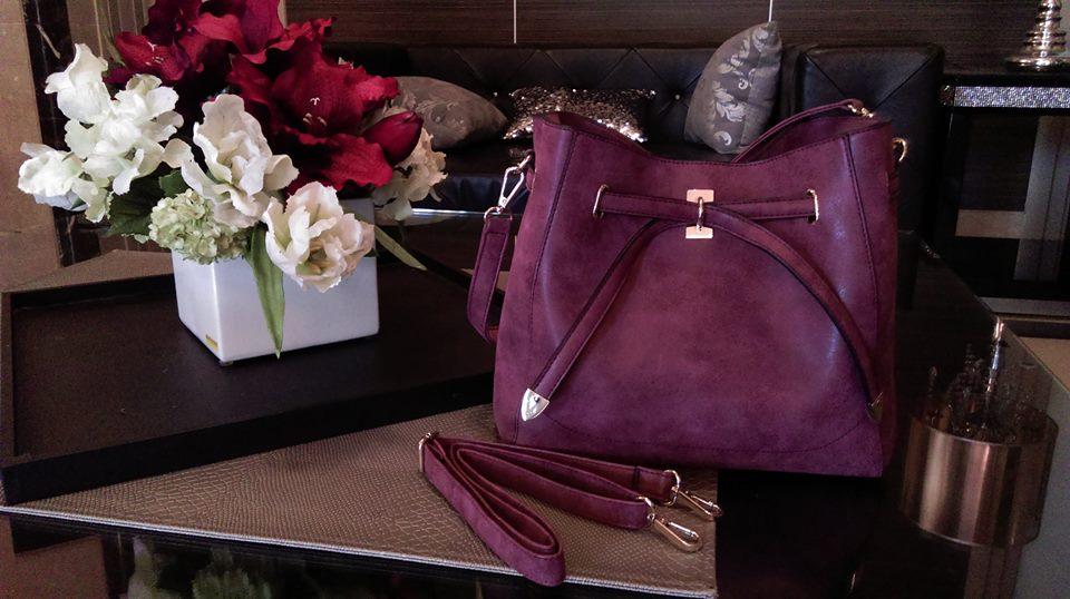【正韓】---- 韓~粉紫色水桶包~