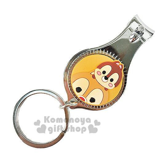 〔小禮堂〕迪士尼 Tsum Tsum 奇奇蒂蒂 指甲剪《小.黃.大臉.附鑰匙圈》方便隨身攜帶